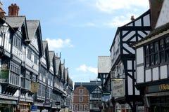 De stadscentrum van Chester stock afbeelding