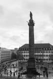 De stadscentrum van Darmstadt Royalty-vrije Stock Foto's