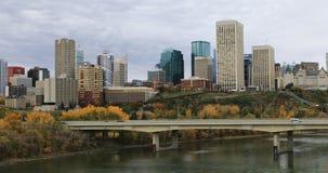 De Stadscentrum van Edmonton in daling 4K stock footage