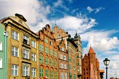 De stadscentrum van Gdansk Stock Afbeeldingen