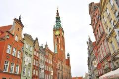 De stadscentrum van Gdansk Stock Foto's
