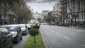 De stadscentrum van Madrid stock videobeelden