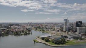 De stadscentrum van Minsk stock videobeelden