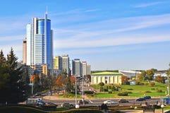 De stadscentrum van Minsk, Wit-Rusland stock foto's