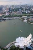 De stadscentrum van Singapore van hierboven Royalty-vrije Stock Fotografie
