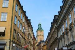 De stadscentrum van Stockholm, St Nicholas Cathedral Royalty-vrije Stock Foto's