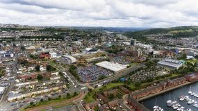 De Stadscentrum van Swansea Royalty-vrije Stock Fotografie