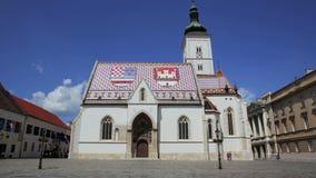 De stadscentrum van Zagreb stock videobeelden