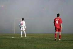 De stadsderby 3 van het voetbal Stock Afbeeldingen