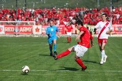De stadsderby FK Velez Mostar v HSK Zrinjski M van het voetbal stock fotografie