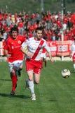De stadsderby FK Velez Mostar v HSK Zrinjski M van het voetbal Royalty-vrije Stock Afbeelding