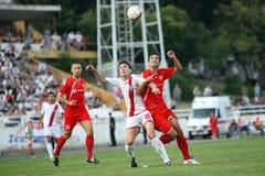 De stadsderby HSK Zrinjski Mostar v FK Velez M van het voetbal Stock Fotografie