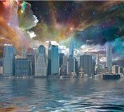 De Stadsfantasie van New York Stock Foto