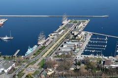 De stadshaven van Gdynia Stock Foto's