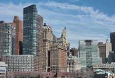 De stadshemel -hemel-scrapper van New York Royalty-vrije Stock Afbeelding