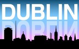 De stadshorizon en achtergrond van Dublin royalty-vrije illustratie