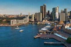 De stadshorizon en haven van Sydney Royalty-vrije Stock Afbeelding