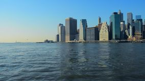De Stadshorizon Manhattan NYC van New York De Verenigde Staten van Amerika stock footage