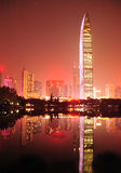 De stadshorizon shenzhen binnen stad royalty-vrije stock foto