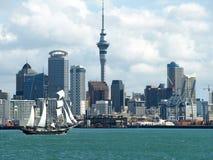 De stadsHorizon van Auckland, Nieuw Zeeland Stock Afbeelding