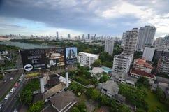 De stadshorizon van Bangkok Stock Afbeeldingen