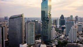 De de stadshorizon van de binnenstad van Bangkok van Thailand royalty-vrije stock fotografie