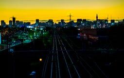 De Stadshorizon van Birmingham stock afbeelding