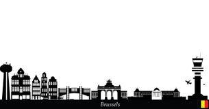 De stadshorizon van Brussel stock illustratie