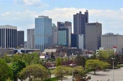 De Stadshorizon van de binnenstad stock foto's