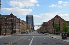 De Stadshorizon van de binnenstad stock foto