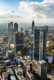 De stadshorizon van Duitsland Frankfurt Stock Fotografie