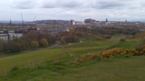 De stadshorizon van Edinburgh Stock Foto