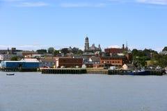 De stadshorizon van Gloucester, Massachusetts stock fotografie