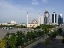 De Stadshorizon van Grozny - Tchetchenië Royalty-vrije Stock Afbeelding