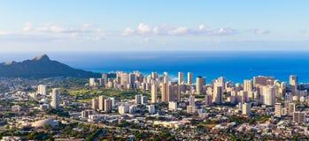 De stadshorizon van Hawaï Stock Foto
