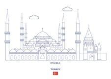De Stadshorizon van Istanboel, Turkije royalty-vrije illustratie