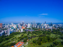 De stadshorizon van Kuala Lumpur Stock Foto's