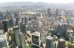 De stadshorizon van Kuala Lumpur Royalty-vrije Stock Fotografie