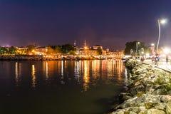 De Stadshorizon van de kustzomer - Turkije Stock Afbeeldingen