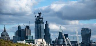 De stadsHorizon van Londen royalty-vrije stock afbeeldingen