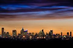 De stadshorizon van Melbourne Stock Afbeelding