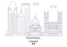 De Stadshorizon van Montreal, Canada Royalty-vrije Stock Foto