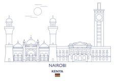 De Stadshorizon van Nairobi, Kenia Royalty-vrije Stock Afbeeldingen