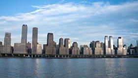 De stadshorizon van New York Stock Afbeeldingen