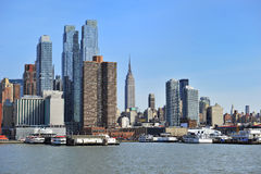 De stadshorizon van New York Stock Foto