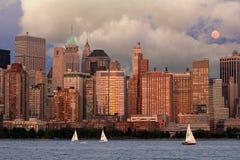 De Stadshorizon van New York Stock Foto