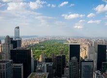 De Stadshorizon van New York - Central Park stock afbeeldingen