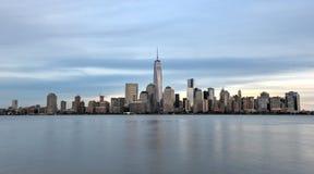 De Stadshorizon van New York van New Jersey Stock Foto's