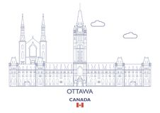 De Stadshorizon van Ottawa, Canada Royalty-vrije Stock Foto