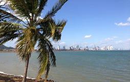De stadshorizon van Panama in 2013 Royalty-vrije Stock Afbeeldingen